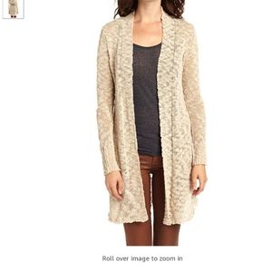 LUCKY BRAND ALONSO MARLED LINEN BLEND SWEATER
